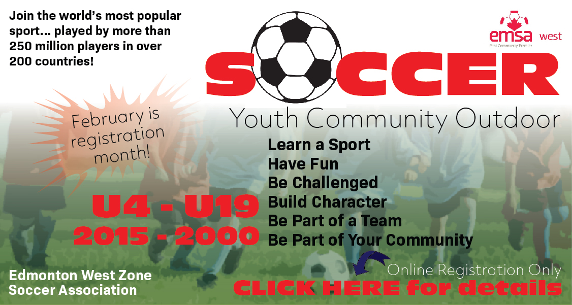 Edmonton Youth Outdoor Soccer Registration